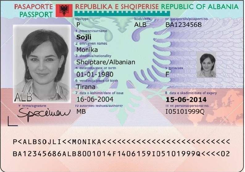 Αποτέλεσμα εικόνας για ηλεκτρονικη ταυτοτητα αλβανιας